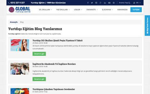 Screenshot of Blog global-yurtdisiegitim.com - Yurtdışı Eğitim Blog   Global Yurtdışı Eğitim - captured Oct. 26, 2018