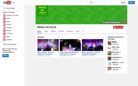 Screenshot of YouTube Page youtube.com - BRASIL NA ITALIA  - YouTube - captured Oct. 23, 2014