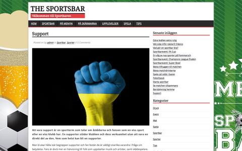 Screenshot of Support Page thesportsbar.se - Support | The Sportsbar - captured Feb. 28, 2016