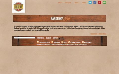 Screenshot of Press Page bardenay.com - News   Bardenay - captured May 31, 2017