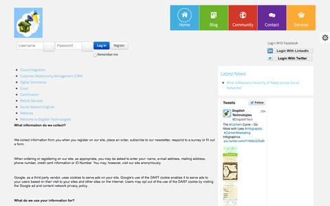 Screenshot of Privacy Page dogdish.co.za - Privacy Policy | Legal - captured Sept. 25, 2014