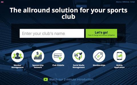 Screenshot of Home Page sport50.com - Club Website & Club Software - Manage Sports Clubs - captured Dec. 5, 2016