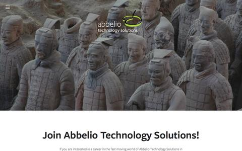 Screenshot of Team Page abbelio-technology.com - Join Us — Abbelio Technology Solutions - captured Feb. 5, 2016