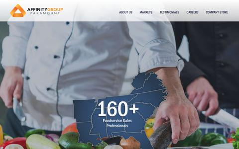 Screenshot of Home Page paramount-mg.com - Foodservice Sales Agency | Paramount Marketing Group - captured July 14, 2017
