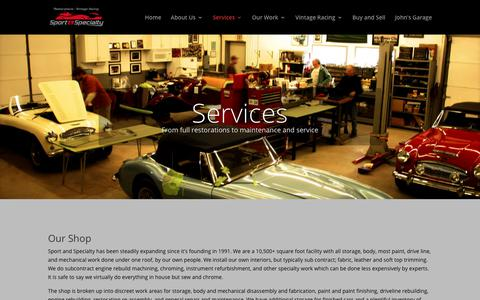 Screenshot of Services Page sportandspecialty.com - Services | Sport and Specialty - captured June 19, 2017