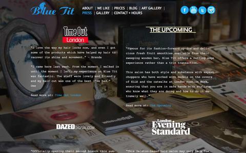 Screenshot of Press Page bluetitlondon.com - Press | Blue Tit London - captured Oct. 29, 2014