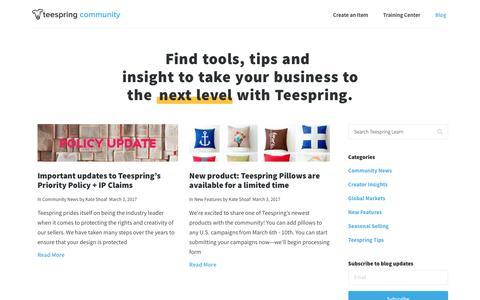 Blog – Teespring Community