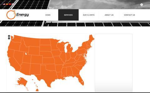 Screenshot of Services Page o3energysolutions.com - Services - captured Nov. 3, 2014