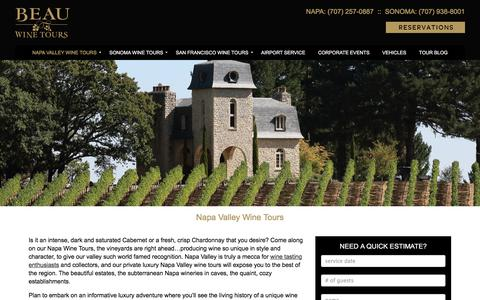 Napa Wine Tours, Wine Tasting Tours of Napa Valley - Beau Wine Tours