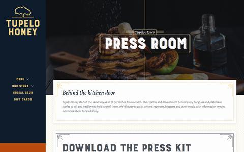 Screenshot of Press Page tupelohoneycafe.com - Press - Tupelo Honey - captured June 17, 2017