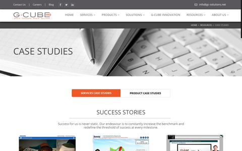Screenshot of Case Studies Page gc-solutions.net - Case Studies: G-Cube LMS & Learning Solutions - captured Sept. 25, 2018