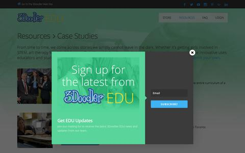 Screenshot of Case Studies Page the3doodler.com - Case Studies | 3Doodler EDU - captured Nov. 12, 2017