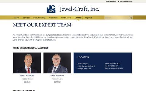 Screenshot of Team Page jewel-craft.com - Our Team – Jewel-Craft - captured Oct. 16, 2017