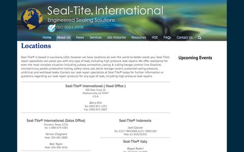 Screenshot of Locations Page seal-tite.com - Locations - Seal-Tite International - captured Nov. 19, 2016