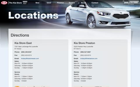 Screenshot of About Page Maps & Directions Page kiastore.com - Kia Store (888) 214-1809 | Directions To The Kia Store Louisville - captured Feb. 15, 2016