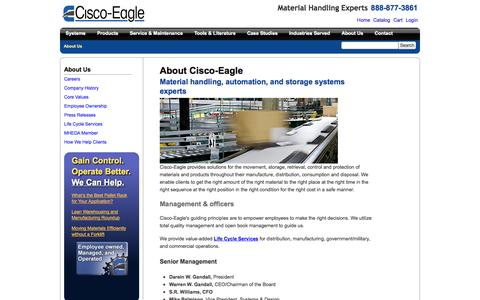 Screenshot of About Page cisco-eagle.com - Cisco-Eagle: About Us - Company Structure, Culture, History - captured Sept. 19, 2014
