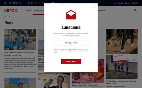 Screenshot of Press Page kerax.co.uk - News | Kerax Ltd - captured Nov. 15, 2018