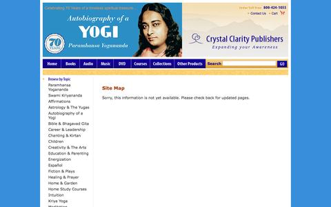 Screenshot of Site Map Page crystalclarity.com - Site Map - Crystal Clarity Publishers - Yogananda inspired Books and Music - captured Nov. 14, 2016