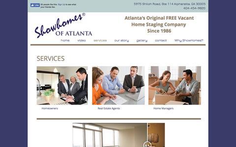 Screenshot of Services Page showhomesofatlanta.com - Showhomes of Atlanta   services - captured Dec. 12, 2016