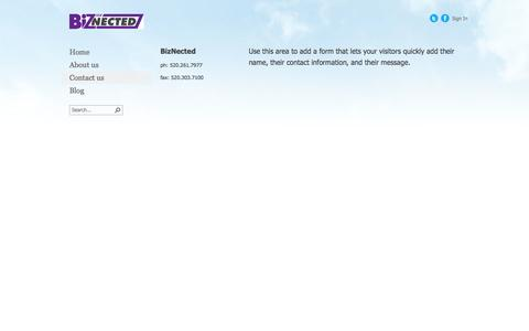Screenshot of Contact Page biznected.com - Contact us - captured Oct. 5, 2014