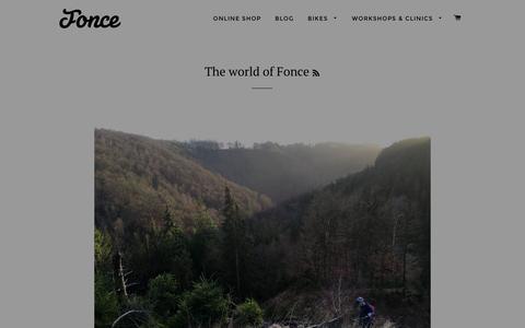 Screenshot of Blog fonce.net - The world of Fonce - captured Jan. 8, 2016