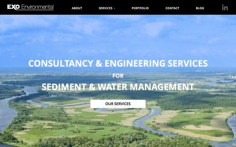 Screenshot of Home Page exo-env.co.uk - Exo Environmental Ltd - Consultants & Engineers. - captured June 18, 2015