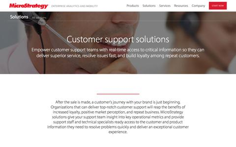 Analytics and Data Solutions for Customer Support   MicroStrategy