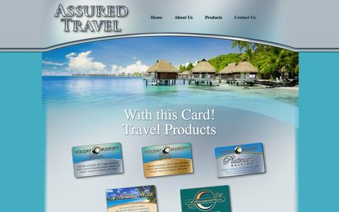 Screenshot of Products Page assuredtravel.com - Assured Travel - captured Sept. 30, 2014