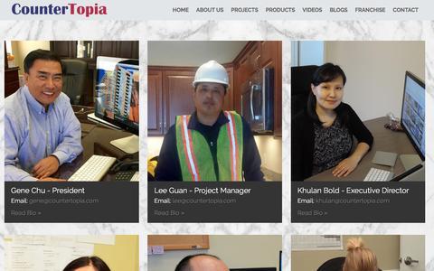 Screenshot of Team Page countertopia.com - CounterTopia | Meet Our Team - captured Nov. 11, 2016
