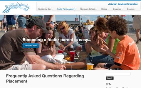 Screenshot of FAQ Page creative-alternatives.org - Frequently Asked Questions Regarding Placement – Creative Alternatives, Inc. - captured Feb. 1, 2016
