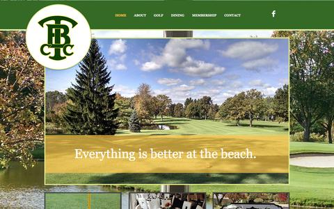 Screenshot of Home Page twinbeachcc.com - Twin Beach Country Club - captured March 11, 2016