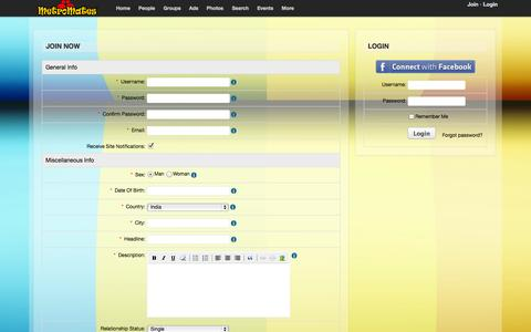 Screenshot of Signup Page metromates.com - Join - captured Oct. 27, 2014