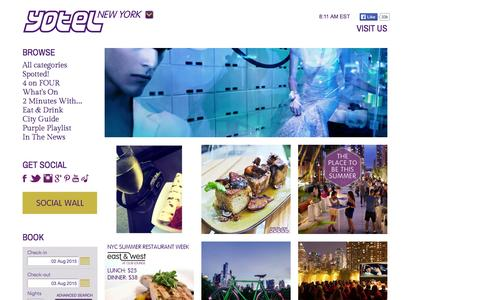 Screenshot of Blog yotelnewyork.com - YOTEL Lifestyle Blog | NYC Blogs | YOTEL New York - captured Aug. 2, 2015