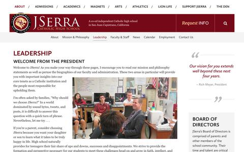 Screenshot of Team Page jserra.org - Leadership - JSerra Catholic High School - captured Oct. 16, 2017