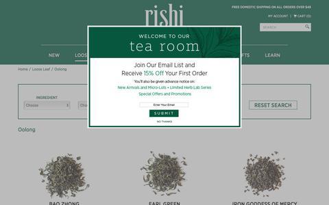 Organic Oolong Tea | Rishi Tea