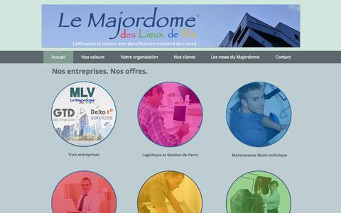 Screenshot of Home Page gtd.fr - GTD - captured June 20, 2015