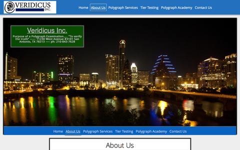 Screenshot of About Page veridicusinc.com - About Us – Veridicus Inc. - captured Feb. 24, 2016