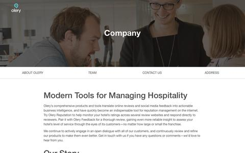 Screenshot of About Page olery.com - Company | Olery - captured Sept. 12, 2014