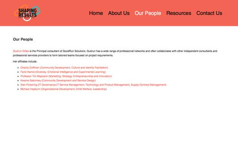 Screenshot of Team Page goodrunsolutions.com.au - Our People – GoodRun Solutions Pty. Ltd. - captured May 20, 2017