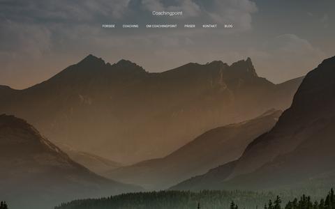 Screenshot of Home Page coachingpoint.dk - Coachingpoint – Frihed Nærvær og Balance - captured Nov. 5, 2018