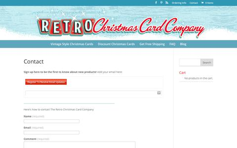 Contact - Retro Christmas Cards