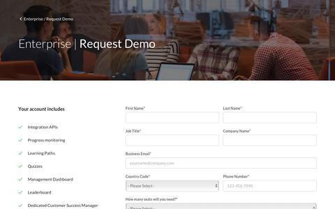 Screenshot of Trial Page cloudacademy.com - Request Demo - Cloud Academy - captured Sept. 19, 2018