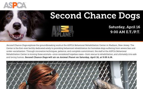 Screenshot of Landing Page aspca.org - The Extraordinary Journey from Rescue to Home | ASPCA - captured Aug. 15, 2016