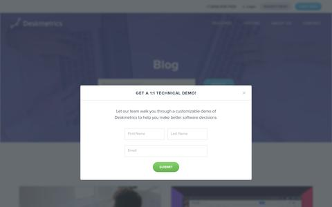 Blog - Deskmetrics