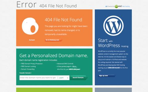 Screenshot of About Page Site Map Page Terms Page 404 Page doteasy.com - Error 404 File Not Found - Doteasy.com - captured Oct. 26, 2014