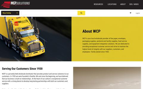 Screenshot of About Page wcpsolutions.com - WCP Solutions About WCP - Wholesale Products, Services & Solutions - captured Nov. 7, 2018
