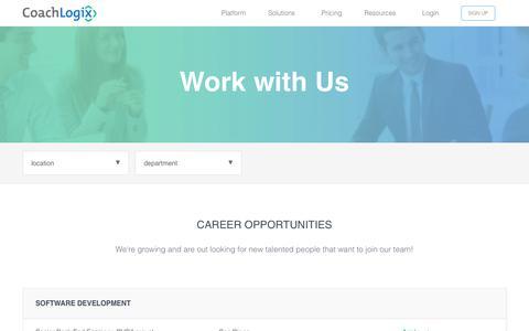 Screenshot of Jobs Page coachlogix.com - Careers   CoachLogix - captured July 19, 2018