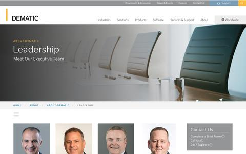 Screenshot of Team Page dematic.com - Leadership - About Dematic | DEMATIC North America - captured Feb. 6, 2019