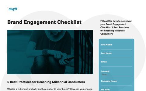 Screenshot of Landing Page monotype.com - Brand Engagement Checklist - captured March 14, 2016
