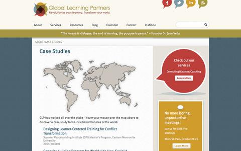 Screenshot of Case Studies Page globallearningpartners.com - Case Studies  Global Learning Partners - captured Oct. 2, 2014